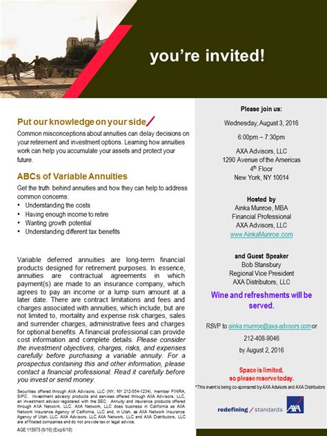 Benefits Of Deferred Mba Program by Abcs Of Annuities Wine Event Tickets Wed Aug 3 2016