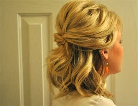half up half down hairstyles for mother of the bride curly half up half down hairstyles for medium length hair