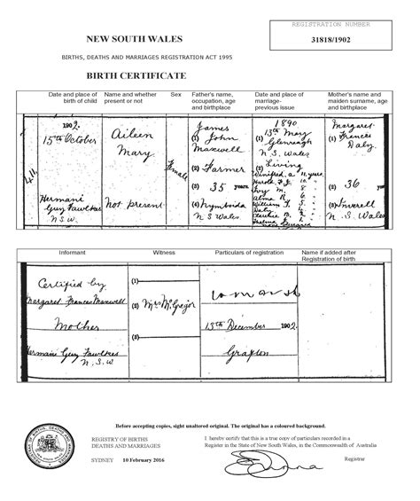 Nsw Divorce Records Family History Descendents Of Maxwell And Margaret Frances Daly