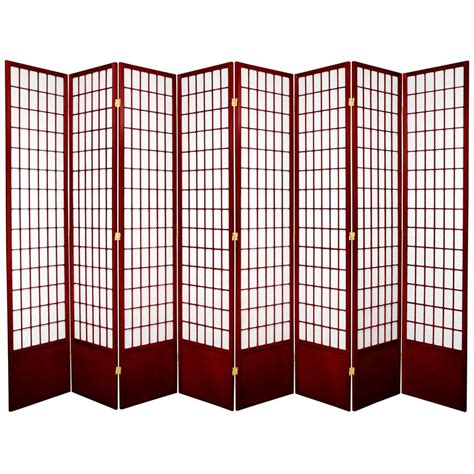 7 ft rosewood 8 panel room divider 84wp rwd 8p the home