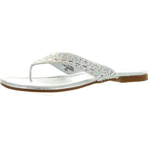 Flatshoes Emory Import 21 de blossom womens 21 dress bling flip flop flat wedding sandals ebay