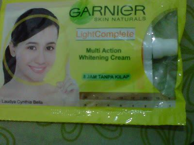 Pelembab Garnier Sachet talks garnier light complete multi