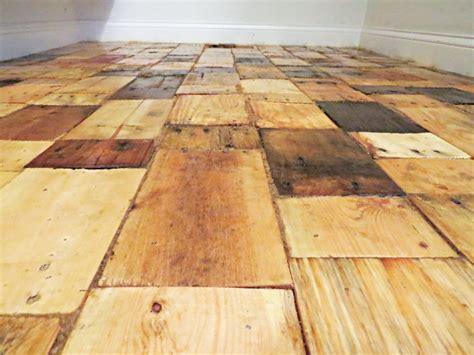 pallet wood flooring diy hometalk redoing a floor with free pallet wood