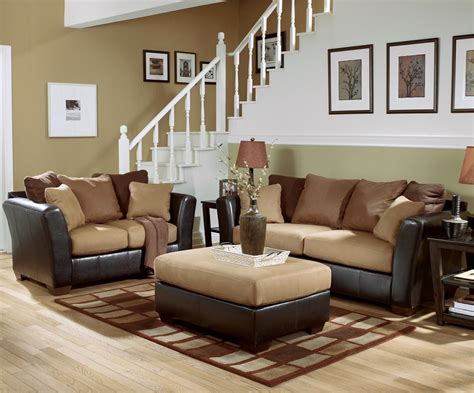 2 sofas in living room ashley furniture signature design lawson saddle living