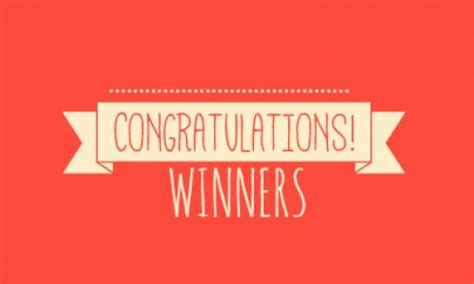 Giveaway Winner - congratulations to the kcfa giveaway winners lauren wants to know