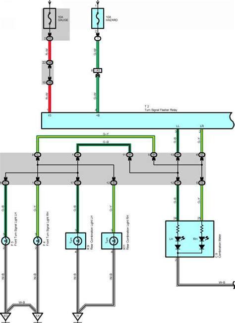 turn signal  hazard warning light toyota corolla  wiring