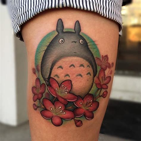 my neighbor totoro tattoo powerline tattoos blackburn new school my