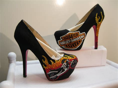 harley high heels etsy your place to buy and sell all things handmade