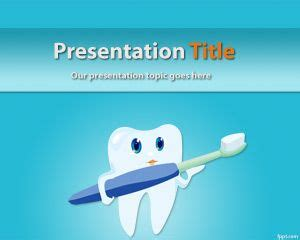 Free Cosmetic Dentistry Powerpoint Template With Tooth And Dental Ppt Templates Free