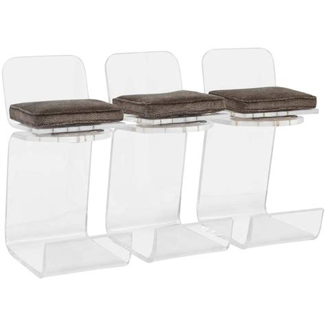 lucite counter height stools set of 3 lucite swivel counter height bar stools in the