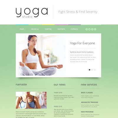 responsive website templates for yoga yoga website templates