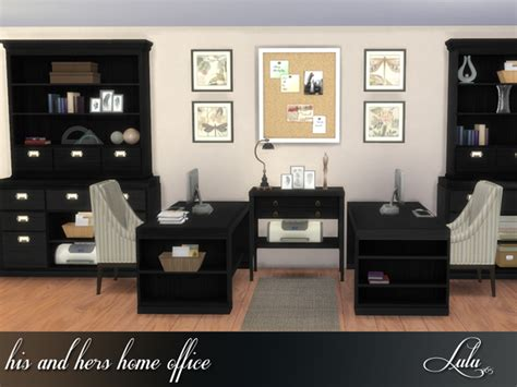 his and hers desk his and hers home office by lulu265 at tsr 187 sims 4 updates