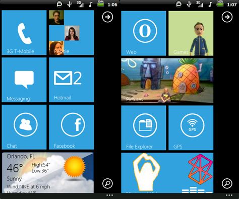 next launcher themes xda tweaks mods for windows mobile using throttlelauncher wp7