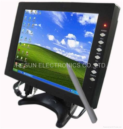 Lcd Komputer Touchscreen 12 1 inch desktop vga touch screen tft lcd monitor for pc