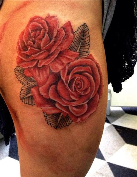 roses on thigh tattoo roses on thigh by aireelle on deviantart