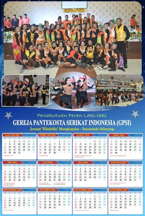 jasa desain kalender  menggunakan background foto
