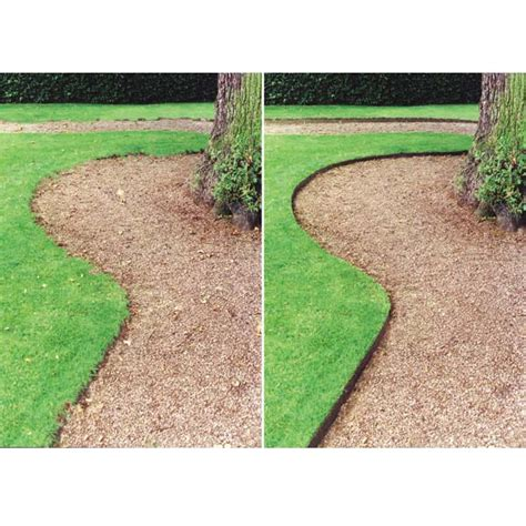 Landscape Edging Gravel This Is A Picture Of The Difference Between No