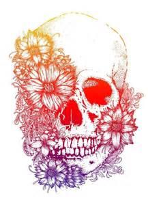 25 best ideas about flower skull tattoos on pinterest