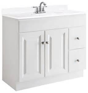 White Bathroom Vanity 36 X 18 36 In Vanity Cabinet In White Finish 36 In W X 18 In D