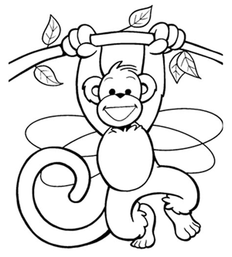Monkey Colour Coloring Part 5 Coloring Page Monkey