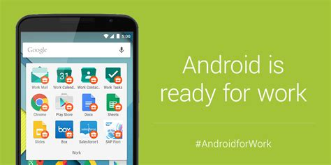 for work announces android for work program makes android