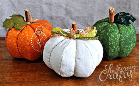 pattern for fabric pumpkins stuffed pumpkins pattern tutorial sewing projects