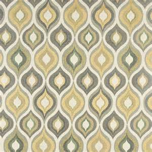 Mohair Fabric Upholstery Green Grey White And Gold Teardrop Pattern Contemporary