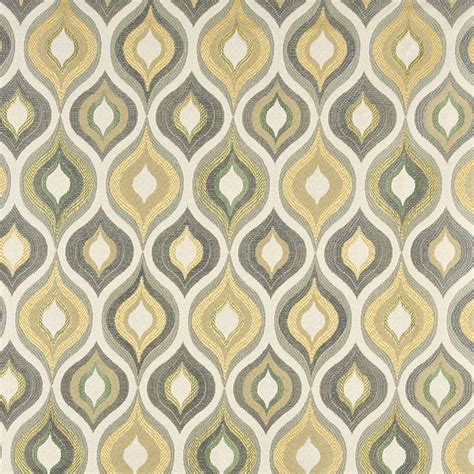 gold pattern material green grey white and gold teardrop pattern contemporary
