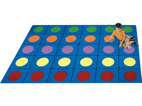 Preschool Rugs Cheap by Lots Of Dots Rectangle Carpet 5 4 Quot X7 8 Quot Shapes Solid Rugs
