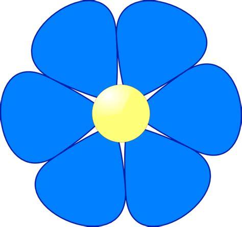 flower clipart blue flower clip at clker vector clip
