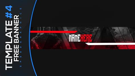 Gaming Banner Template 4 Free Photoshop Download Youtube Free Gaming Banner Template