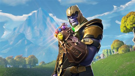 thanos regresaria  fortnite gracias  avengers endgame