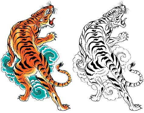 japanese tiger tattoo meaning clipart tiger pencil and in color