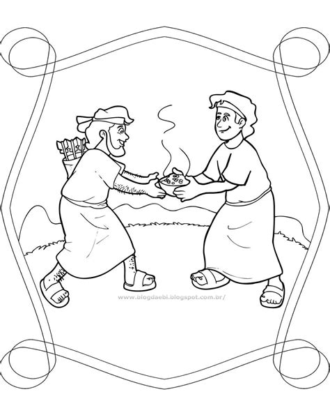 jacob and esau twins coloring page pinterest the world s catalog of ideas