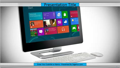 powerpoint template computer free computer keyboard powerpoint template 6243 13761
