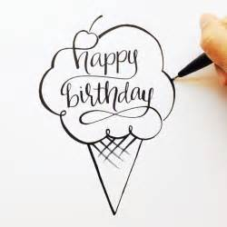 lettered happy birthday sketch abc sts happy and watercolor lettering