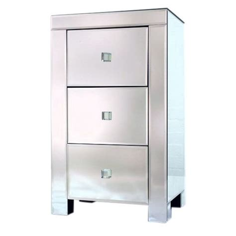 Mirror Bedside Drawers by Venetian 3 Drawer Mirrored Bedside Chest Of Drawers Free