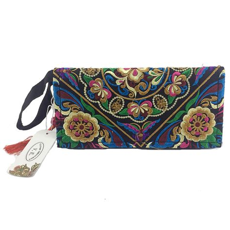 Wallet Bag Flower Walletbag Flower new national ethnic embroidery wallet side embroidered flower coins purse bags s