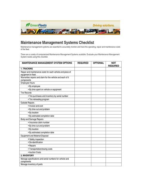 facility management template best photos of facility preventive maintenance checklist