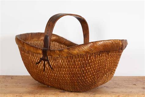 Handmade Willow Baskets - antique handmade willow flower basket at 1stdibs