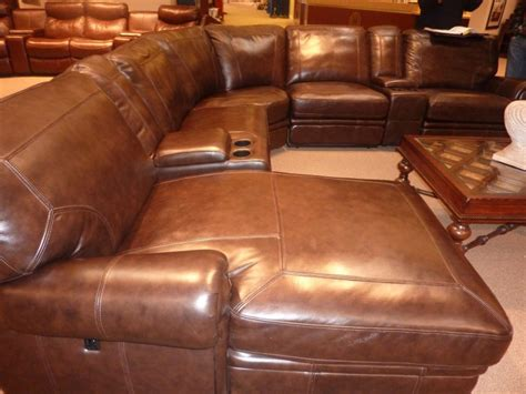 leather reclining sectional sofa with chaise leather sectionals with recliners and chaise