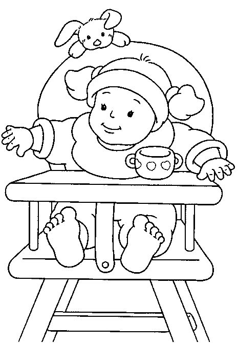 chair baby coloring pages free printable coloring pages kids colouring pages coloring