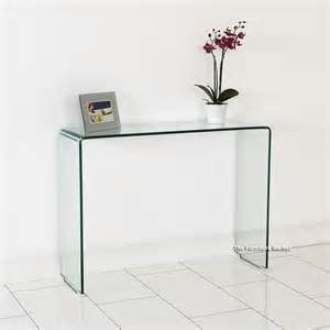 Small Glass Console Table Geo Glass Small Clear Glass Console Table