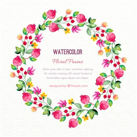 decorative flower decorative watercolor flowers wreath vector free