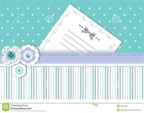 Place Card Template Stock by Template Card With Ribbons And Place For Text Royalty Free