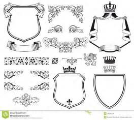 heraldic coat of arms stock vector image of fancy