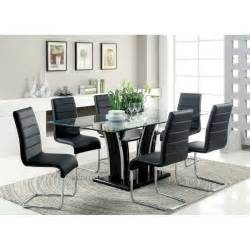 glass 7 piece dining table set images