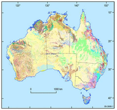 scale map of australia geology of australia by state or territory