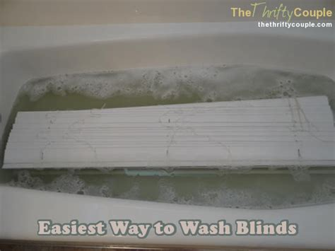 clean blinds in bathtub the best way to wash blinds the thrifty couple