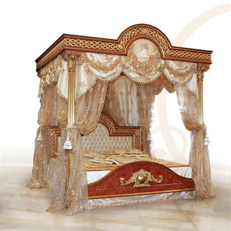 letto baldacchino letto lussuoso con baldacchino in legno massello